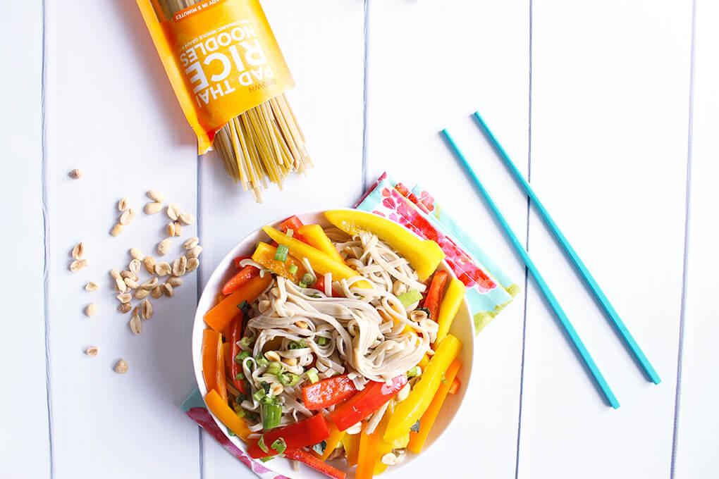 Summer Pad Thai Noodle Salad sarahkayhoffman.com Lotus Pad Thai Organic