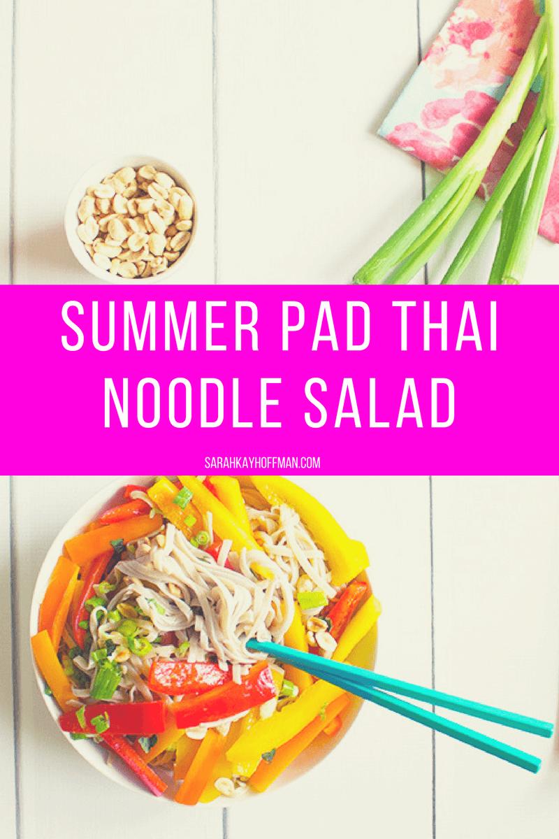 Summer Pad Thai Noodle Salad sarahkayhoffman.com