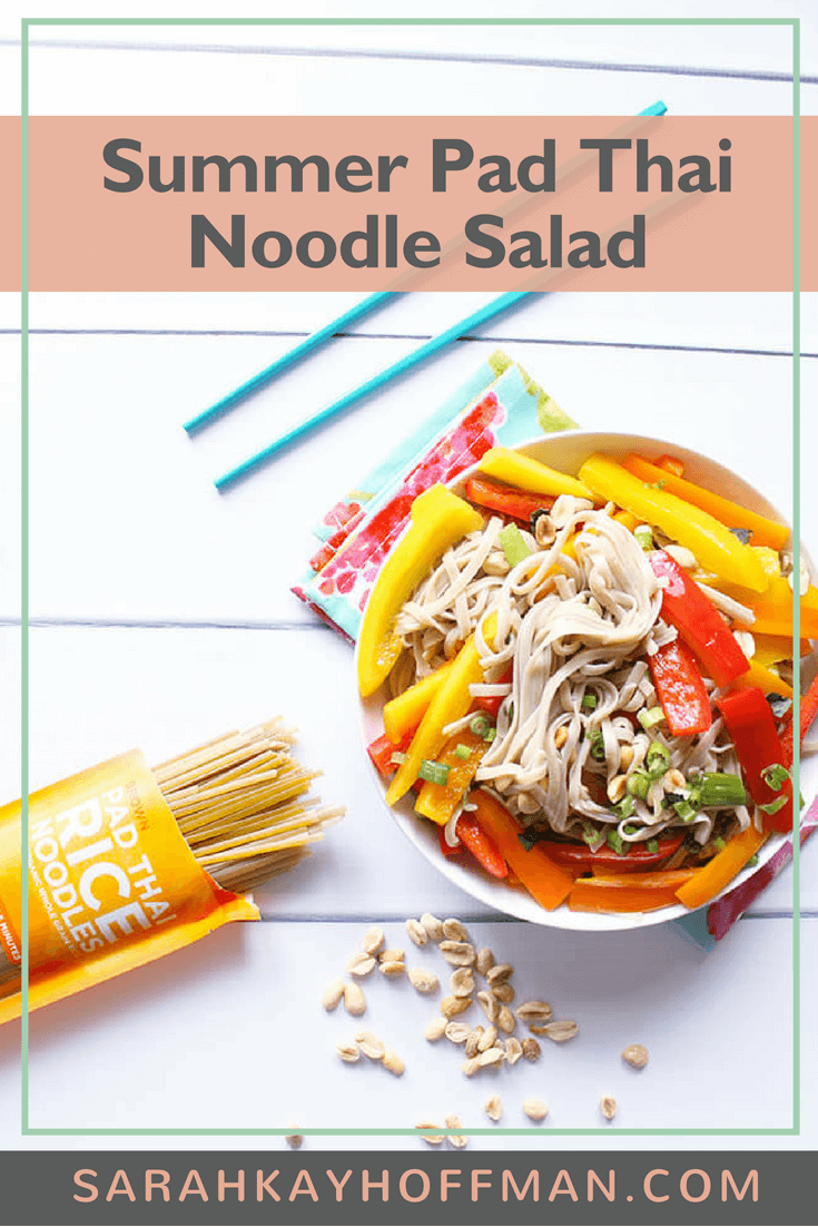 Summer Pad Thai Noodle Salad www.sarahkayhoffman.com #vegetarian #lowfodmap #glutenfree