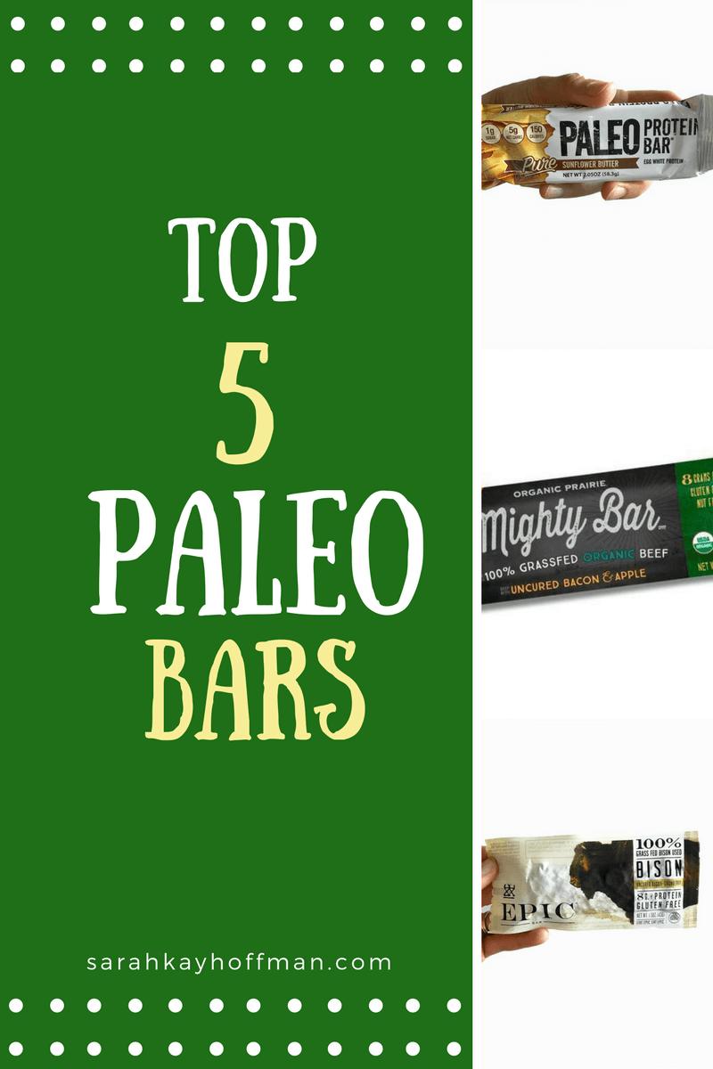 Top 5 Paleo Bars sarahkayhoffman.com Primal