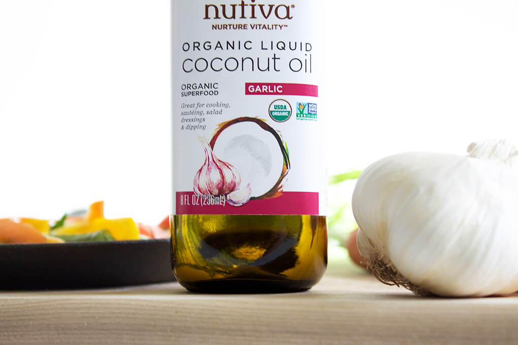 Garlic and SIBO sarahkayhoffman.com Nutiva Organic Liquid Coconut Oil with Garlic
