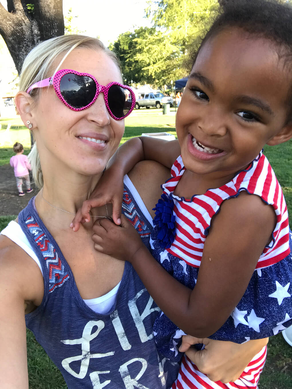 Are these the easy days? sarahkayhoffman.com SKH and Samarah 4th of July