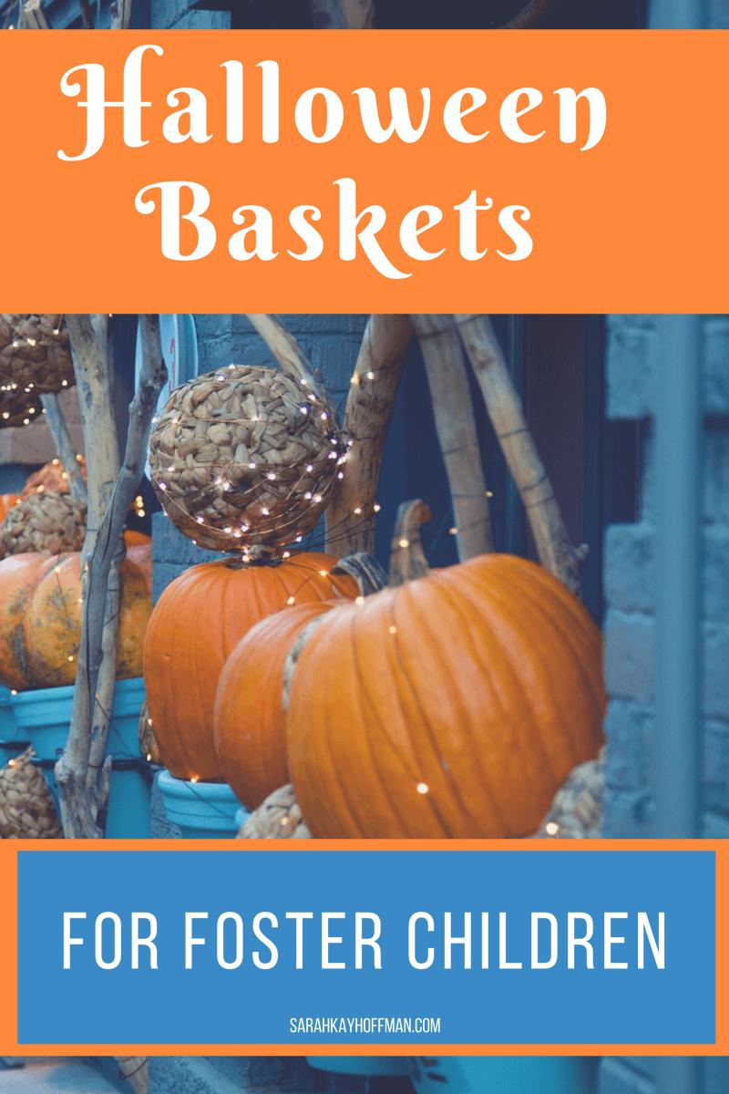 Halloween Baskets for Foster Children sarahkayhoffman.com