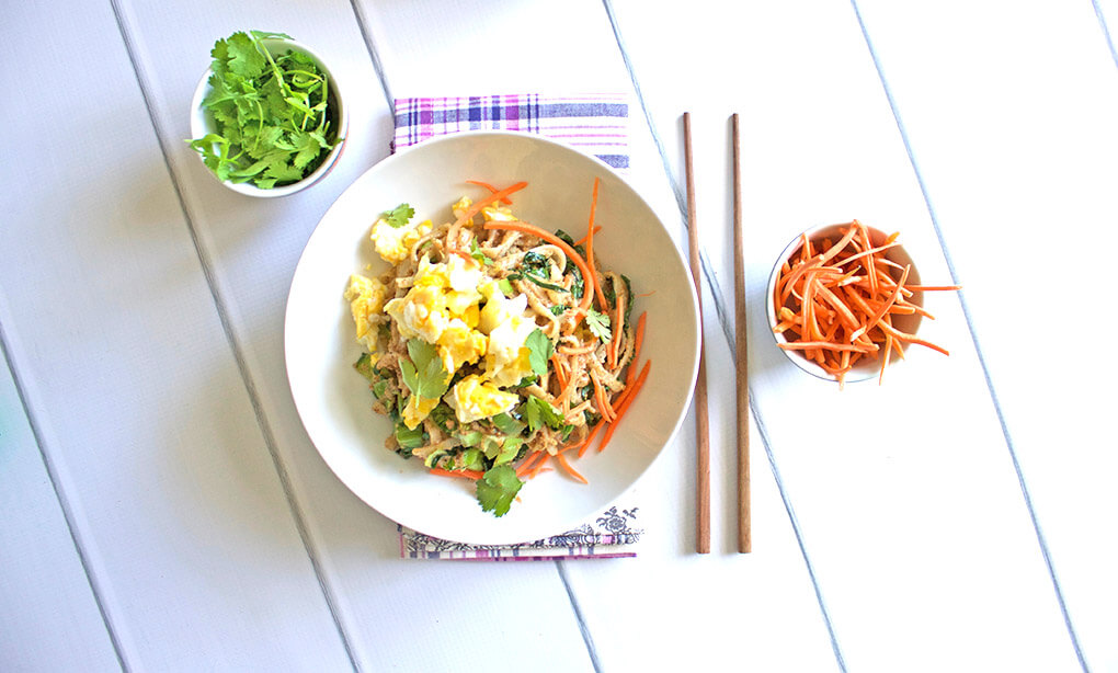 Veggie Pad Thai sarahkayhoffman.com Gluten Free