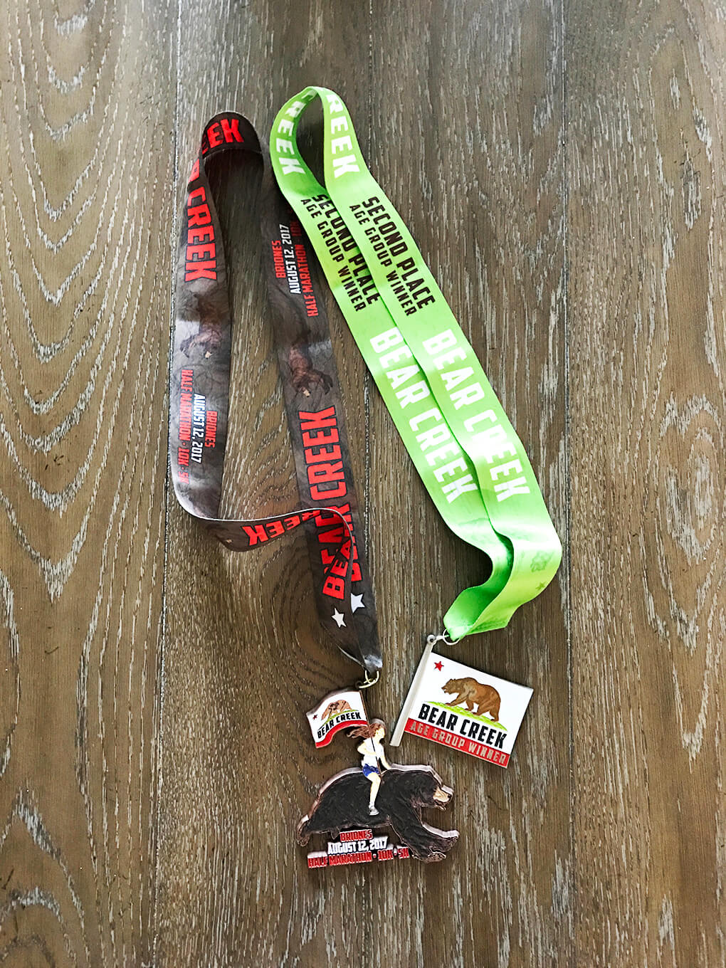 Brazen Trail Racing sarahkayhoffman.com Medals Age Division 2nd place