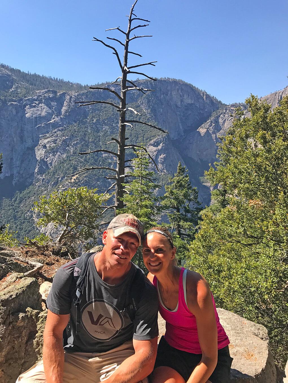 Hiking Yosemite sarahkayhoffman.com Ryan, SKH Glacier Point hike