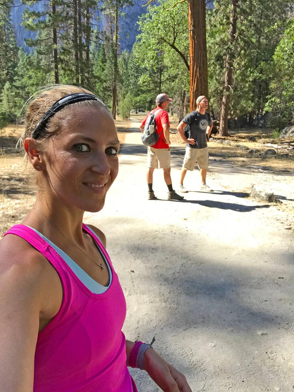 Hiking Yosemite sarahkayhoffman.com SKH, Ryan, JJ bottom Glacier Point Hike