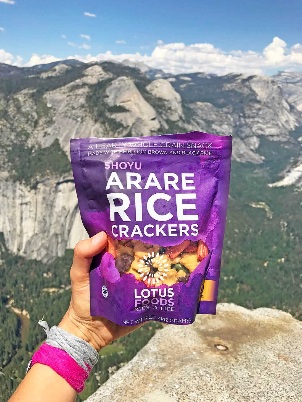 Hiking Yosemite sarahkayhoffman.com Snacks Shoyu Lotus Foods Arare Crackers