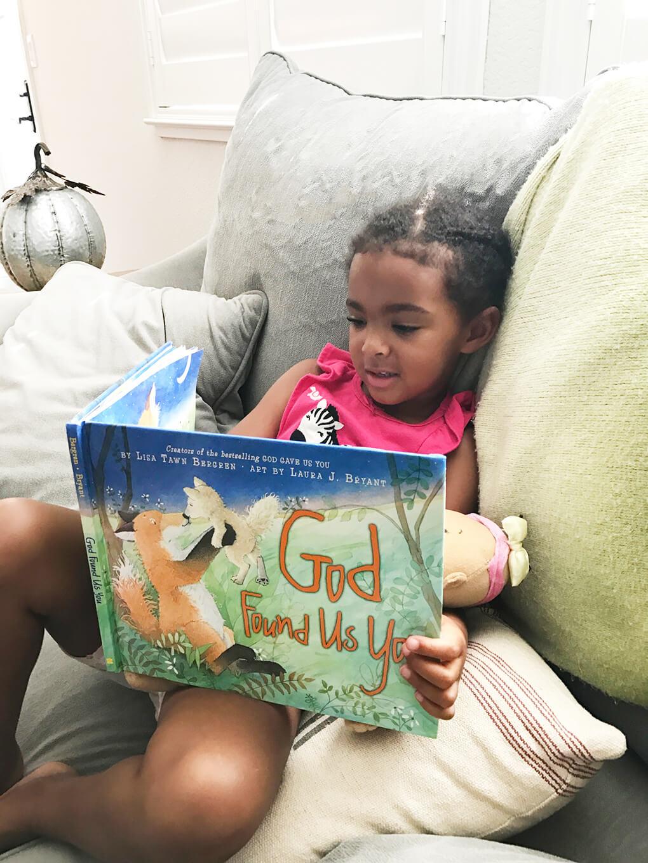 Favorite Adoption Faith Book for Children sarahkayhoffman.com God Found Us You reading Samarah