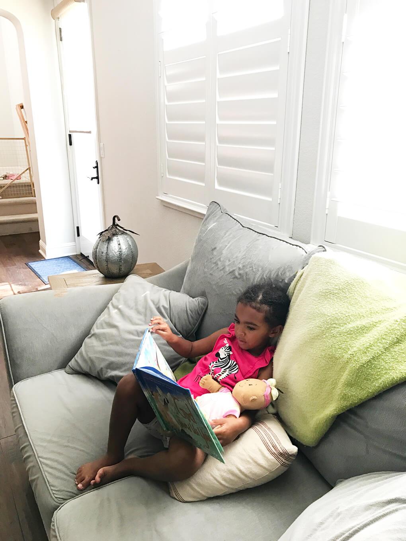 Favorite Adoption Faith Book for Children sarahkayhoffman.com Samarah reading God Found Us You