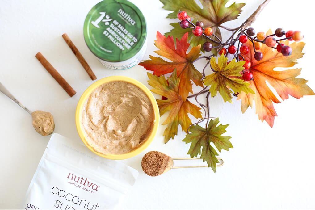 Gluten Free Recipe Roundup Four sarahkayhoffman.com Pumpkin Spiced Whipped Cream Nutiva Organic Coconut Sugar