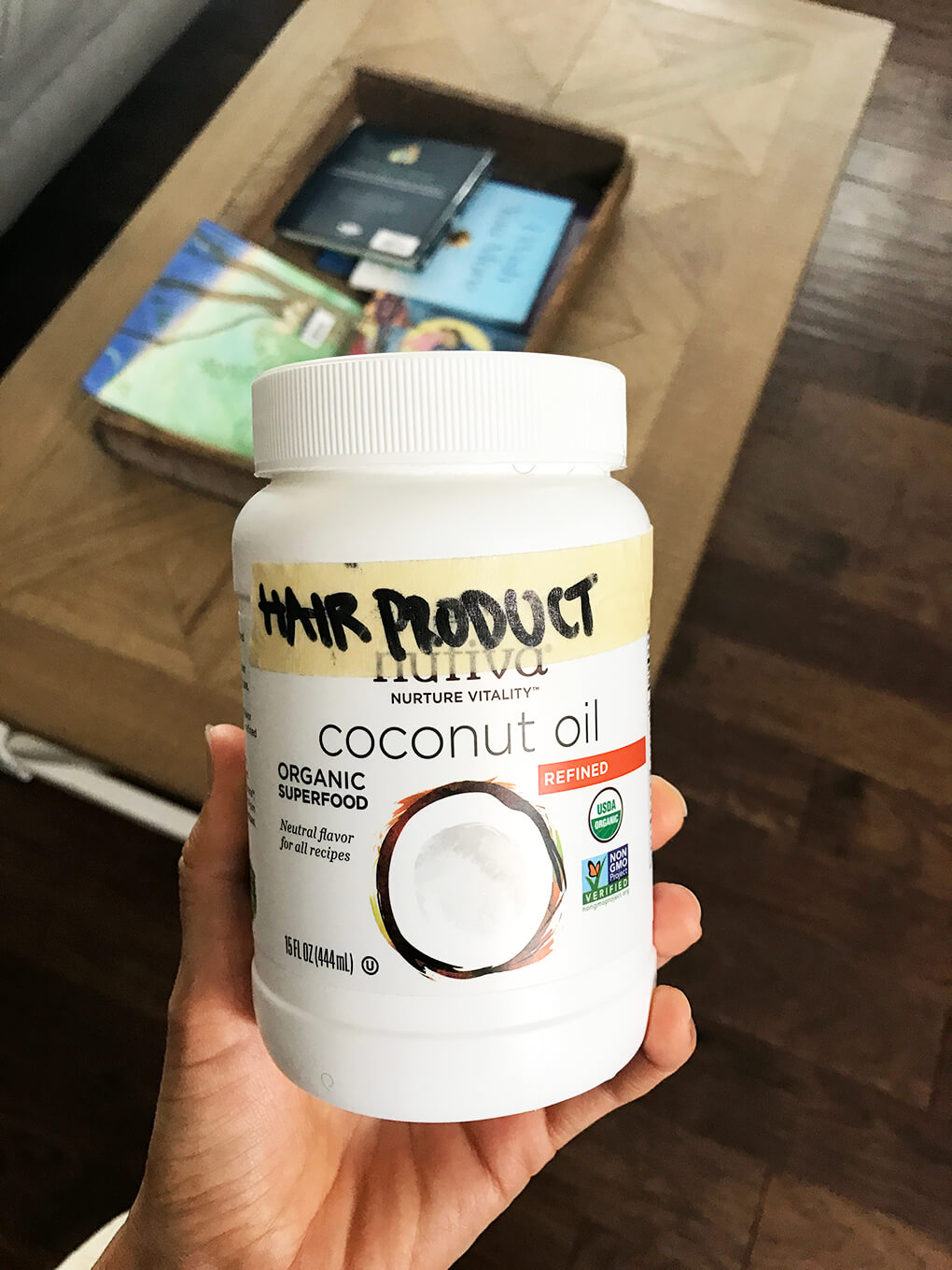 Hair Routine and Products sarahkayhoffman.com Nutiva Organic Refined Coconut Oil