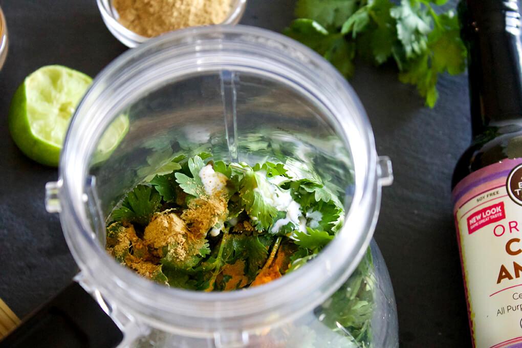Paleoish Pad Thai with Creamy Cilantro Sauce sarahkayhoffman.com Dairy free gluten free