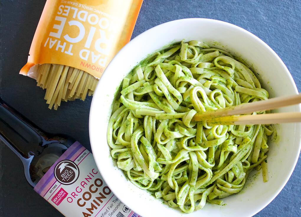 Paleoish Pad Thai with Creamy Cilantro Sauce sarahkayhoffman.com Lotus Foods Organic