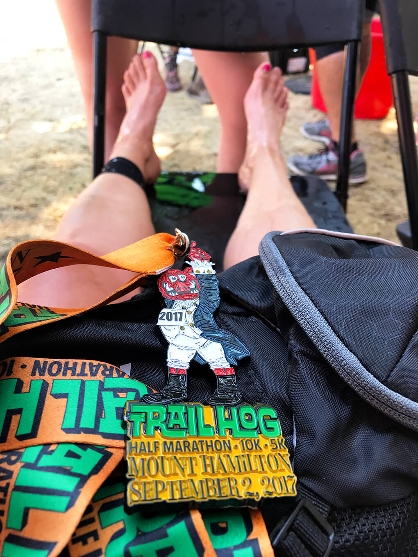 Trail Hog Survival sarahkayhoffman.com Mount Hamilton Half Marathon Medal