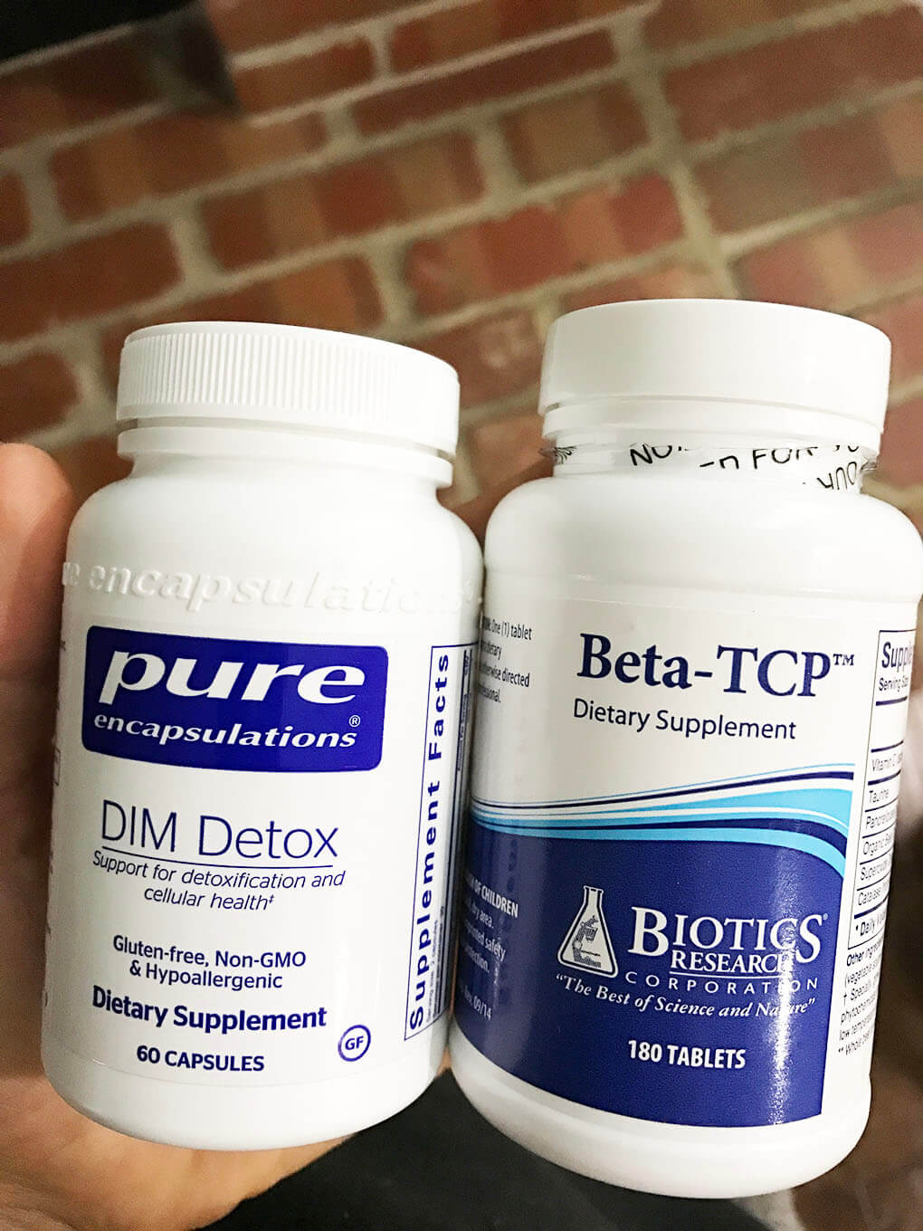 10 Gut and Hormone Supplements sarahkayhoffman.com Beta-TCP and Dim Detox