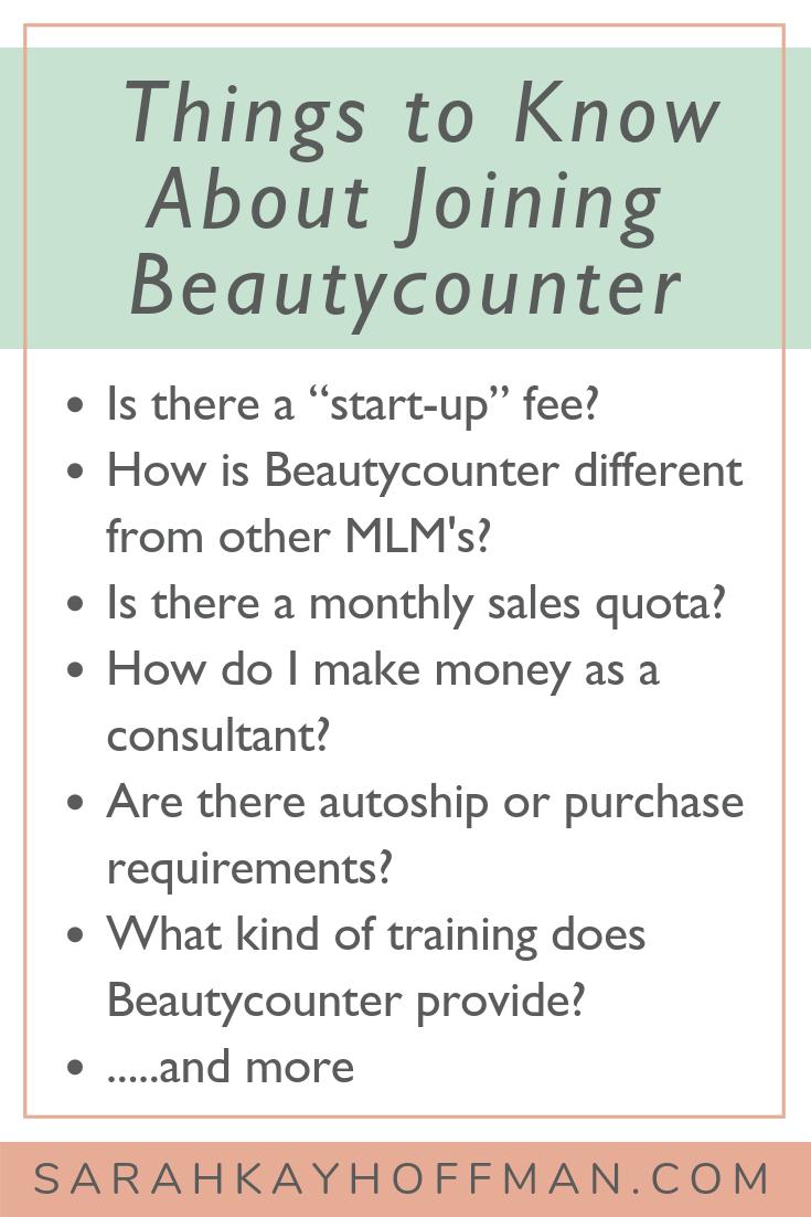 Becoming a Beautycounter Consultant FAQ www.sarahkayhoffman.com #mompreneur #healthyliving #beautycounter #skincare #girlboss