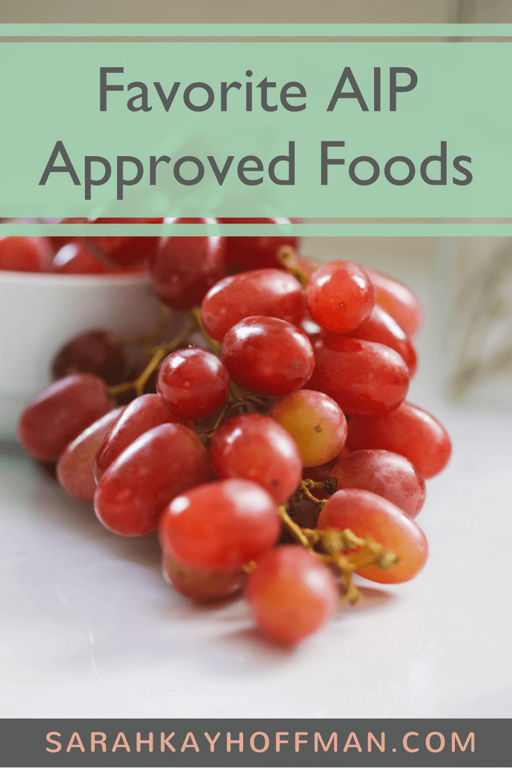 Favorite AIP Approved Foods www.sarahkayhoffman.com #AIP #guthealth #autoimmune #healthyliving