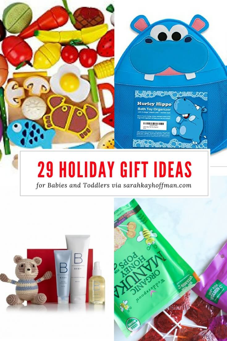 29 Holiday Gift Ideas for Babies and Toddlers sarahkayhoffman.com Wedderspoon Beautycounter Wooden Toys Hippo Bath