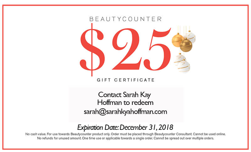 43 Holiday Wellness and Lifestyle Gift Ideas sarahkayhoffman.com Beautycounter Holiday Gift Certificate