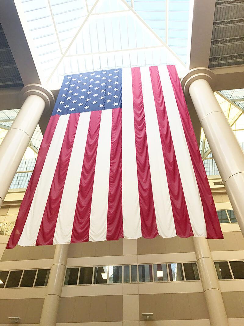 Finding Thanksgiving sarahkayhoffman.com VA Hospital American Flag