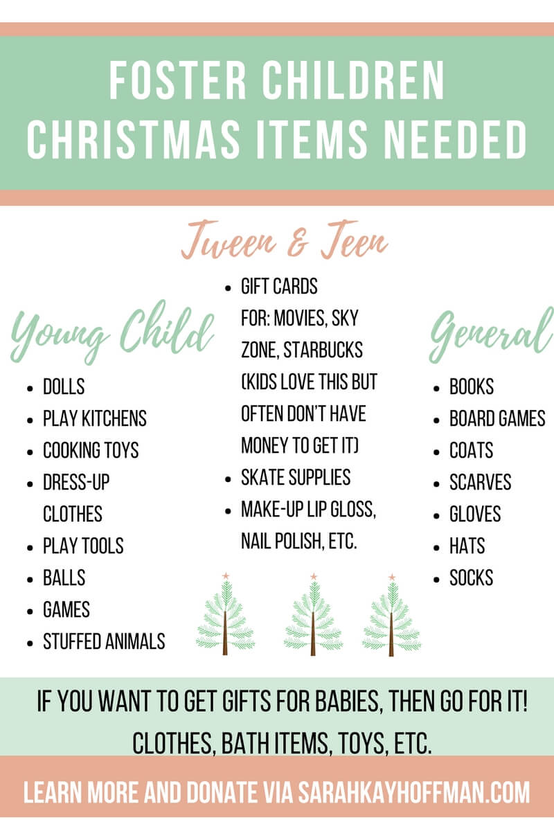 Foster Children Christmas Items Needed sarahkyahoffman.com