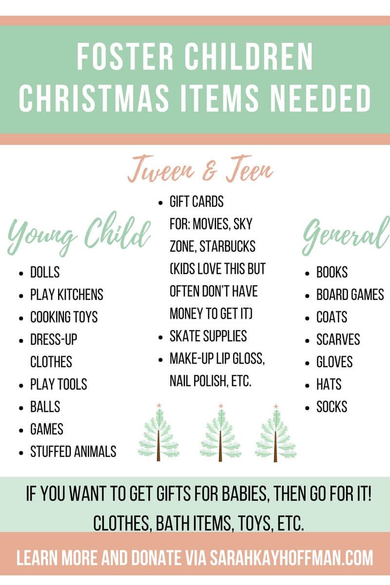Foster Children Christmas Items Needed sarahkyahoffman.com