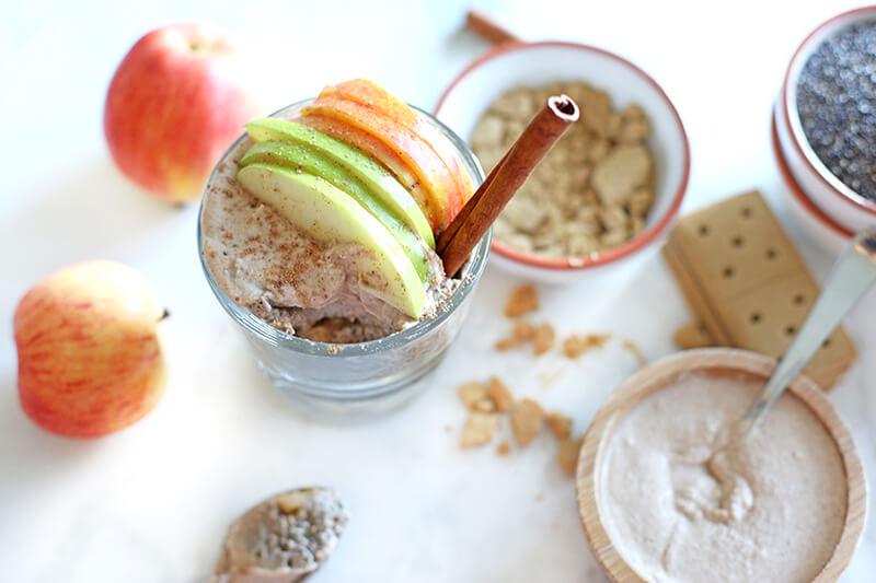 Gluten Free Recipe Roundup Five agutsygirl.com Apple Pie Chia Pudding Cinnamon Vanilla Whipped Cream