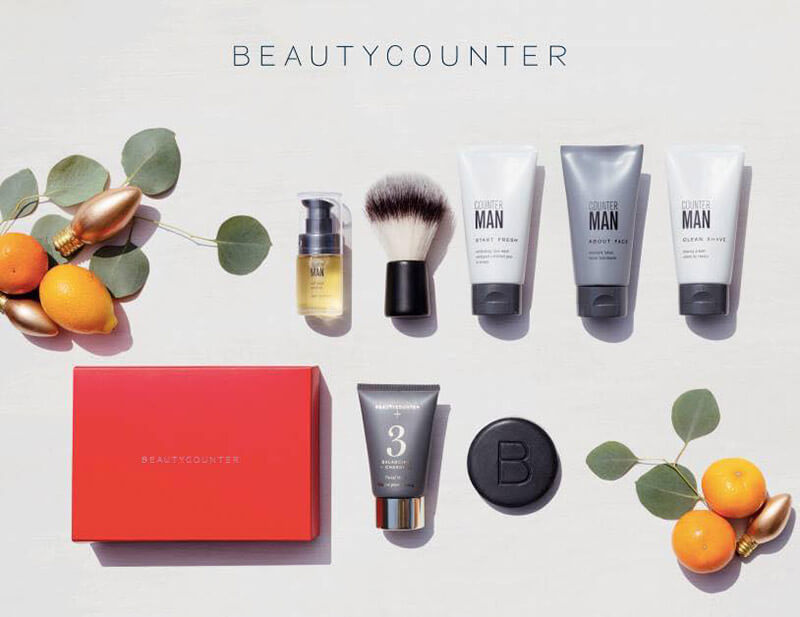 Holiday Gift Guide Roundup sarahkayhoffman.com Beautycounter Countermatch Men Holiday set shave face wash