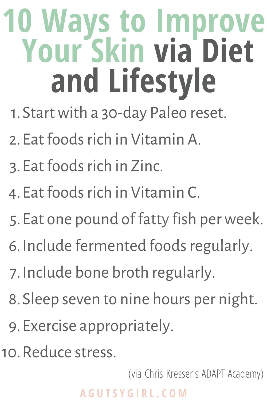 Skin Health and Endocrine Disruptors agutsygirl.com #skinhealth #endocrinesystem #guthealth 10 Ways to Improve skin diet lifestyle