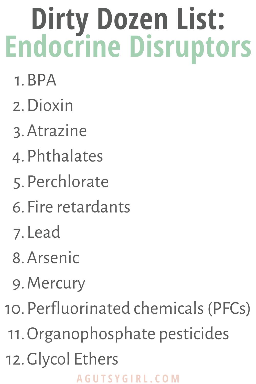 Skin Health and Endocrine Disruptors agutsygirl.com #skinhealth #endocrinesystem #guthealth Dirty Dozen List