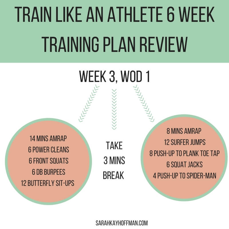 Train Like an Athlete 6 Week Training Plan Review sarahkayhoffman.com WOD