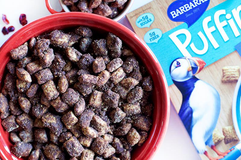 Best Healthyish Puppy Chow Ever sarahkayhoffman.com Barbara's Puffins Vegan