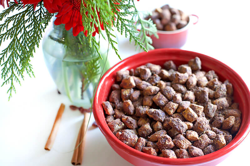 Best Healthyish Puppy Chow Ever sarahkayhoffman.com Christmas flowers Barbaras puffins Vegan