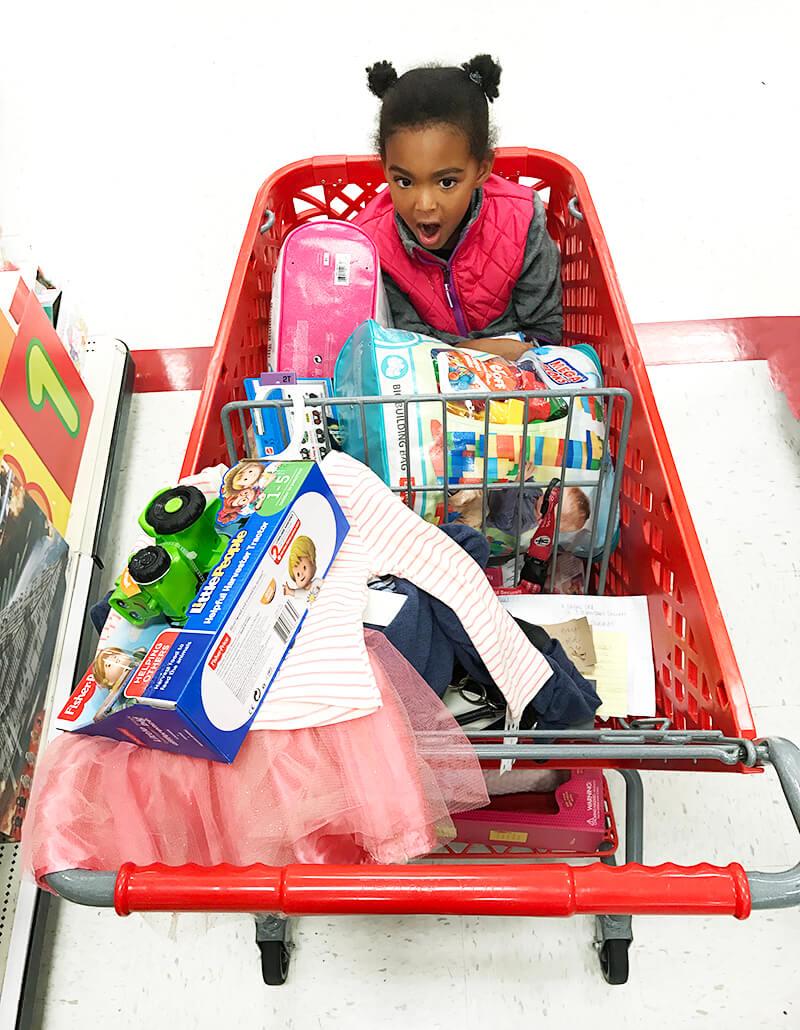 Just One Child sarahkayhoffman.com Foster Children Christmas Samarah Target cart