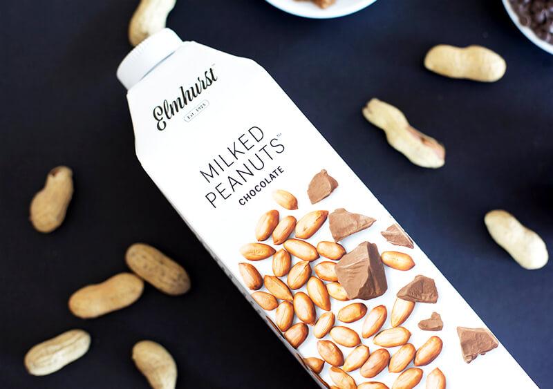 3-Ingredient Chocolate Peanut Butter Banana Shake sarahkayhoffman.com Milked Chocolate Peanuts Elmhurst Elmhurst1925