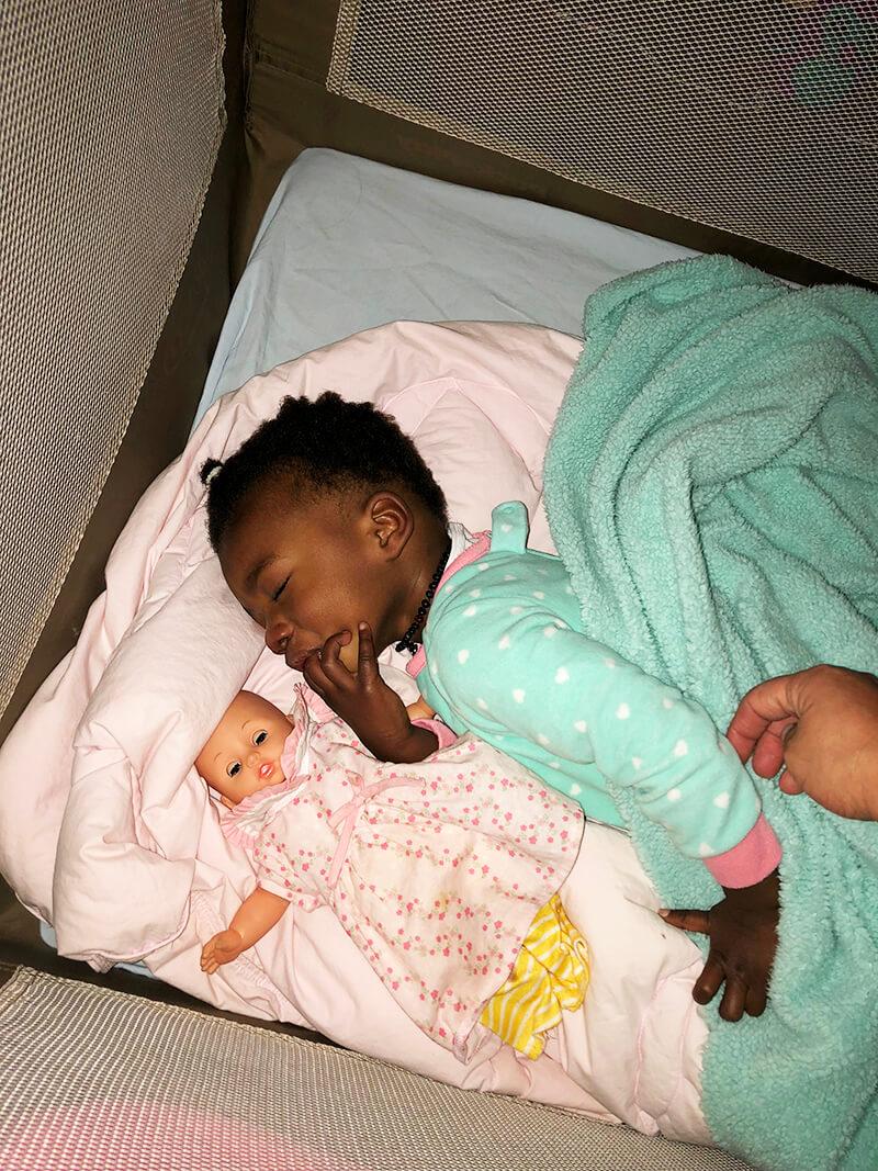 Back with the Tribe sarahkayhoffman.com Amiya sleeping pack n play