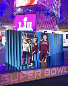 Back with the Tribe sarahkayhoffman.com Maddy, Samarah, Malia, Sophie Super Bowl NFL Experience Minneapolis