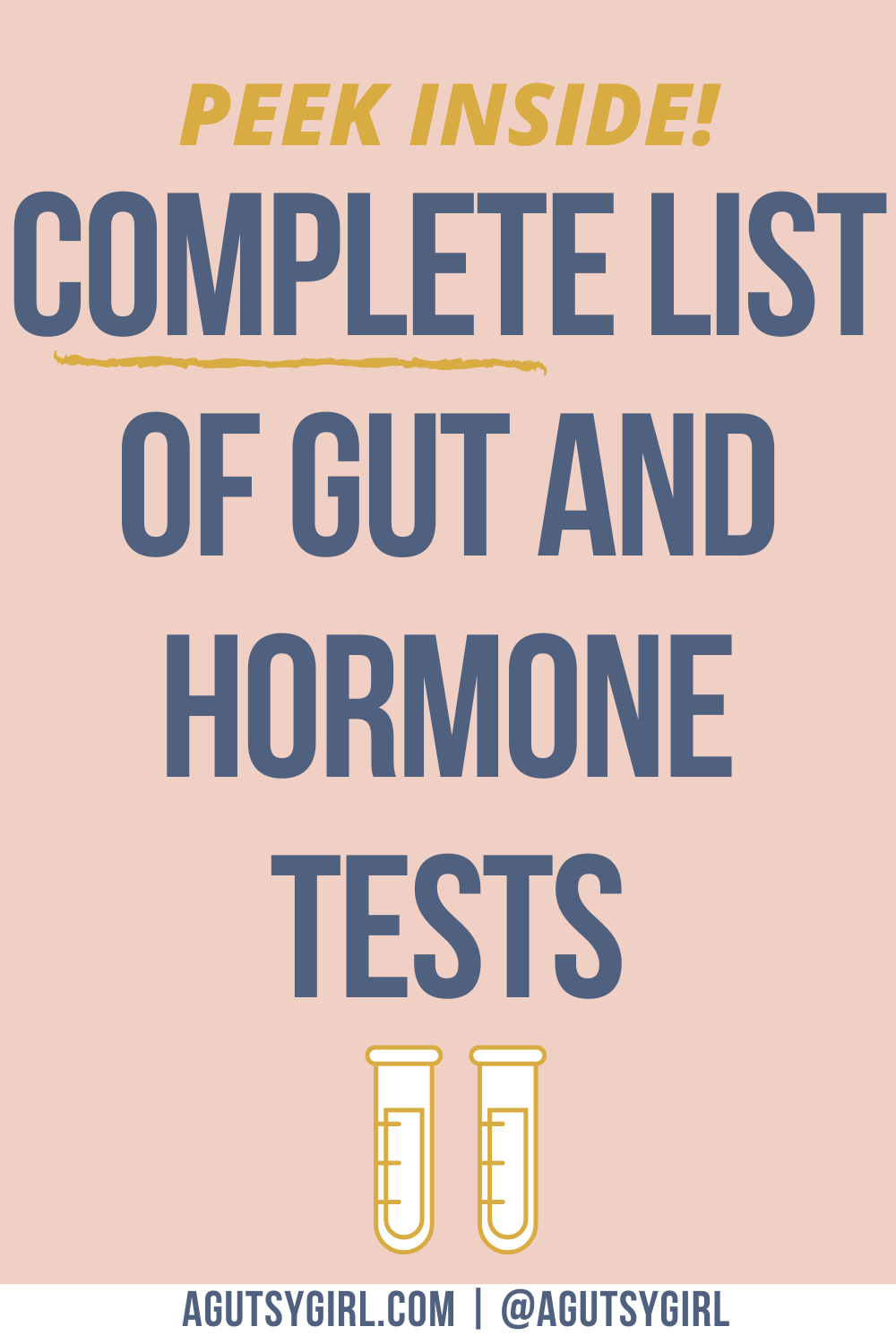 Complete List of Gut and Hormone Tests agutsygirl.com #guthealth #hormones #SIBO