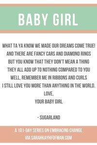 Love Your Baby Girl sarahkayhoffman.com embracing change
