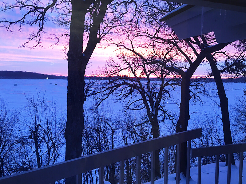 Month One sarahkayhoffman.com lake morning winter