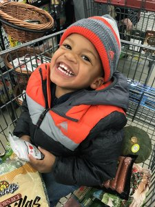 Two sarahkayhoffman.com Isaiah Hy Vee grocery cart Owatonna MN