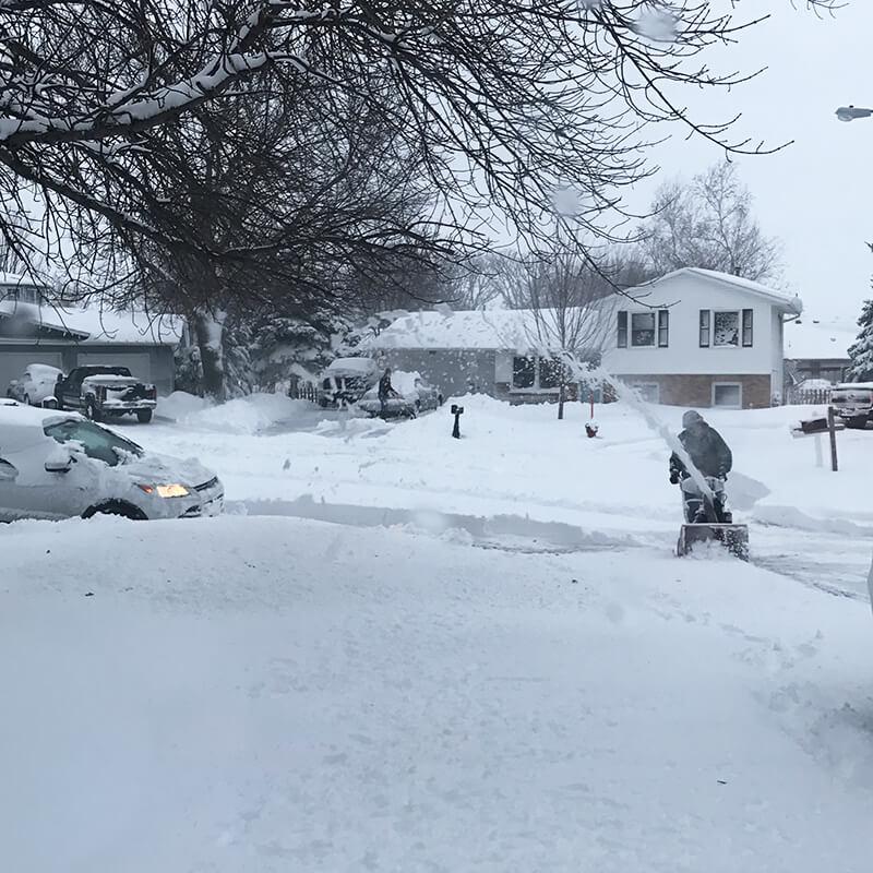 9 Ways to Embrace Winter sarahkayhoffman.com snow blow snowing