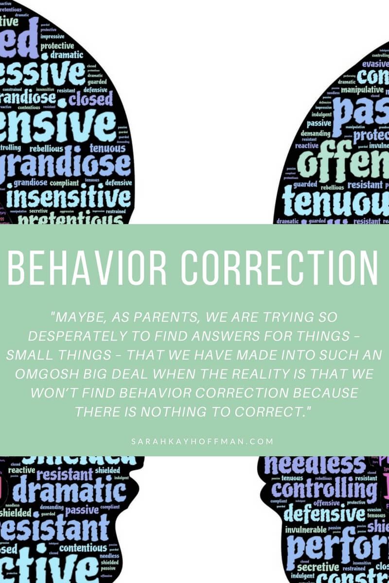 Behavior Correction sarahkayhoffman.com