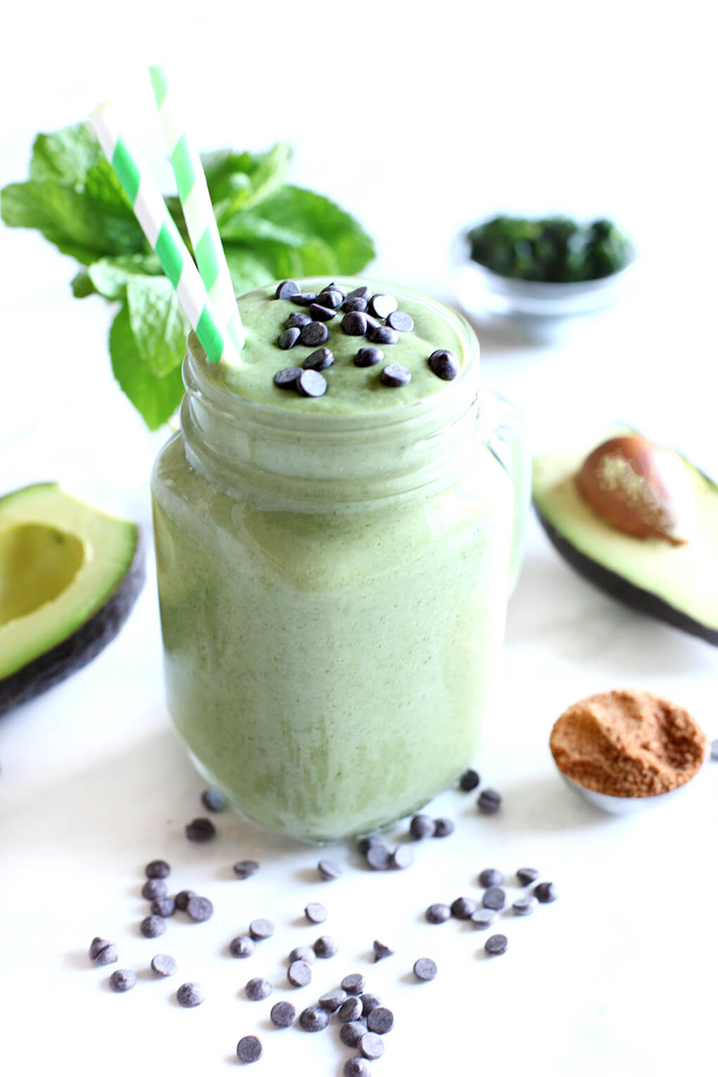 Gluten Free Recipe Roundup Six sarahkayhoffman.com Mint Chip Smoothie Vegan