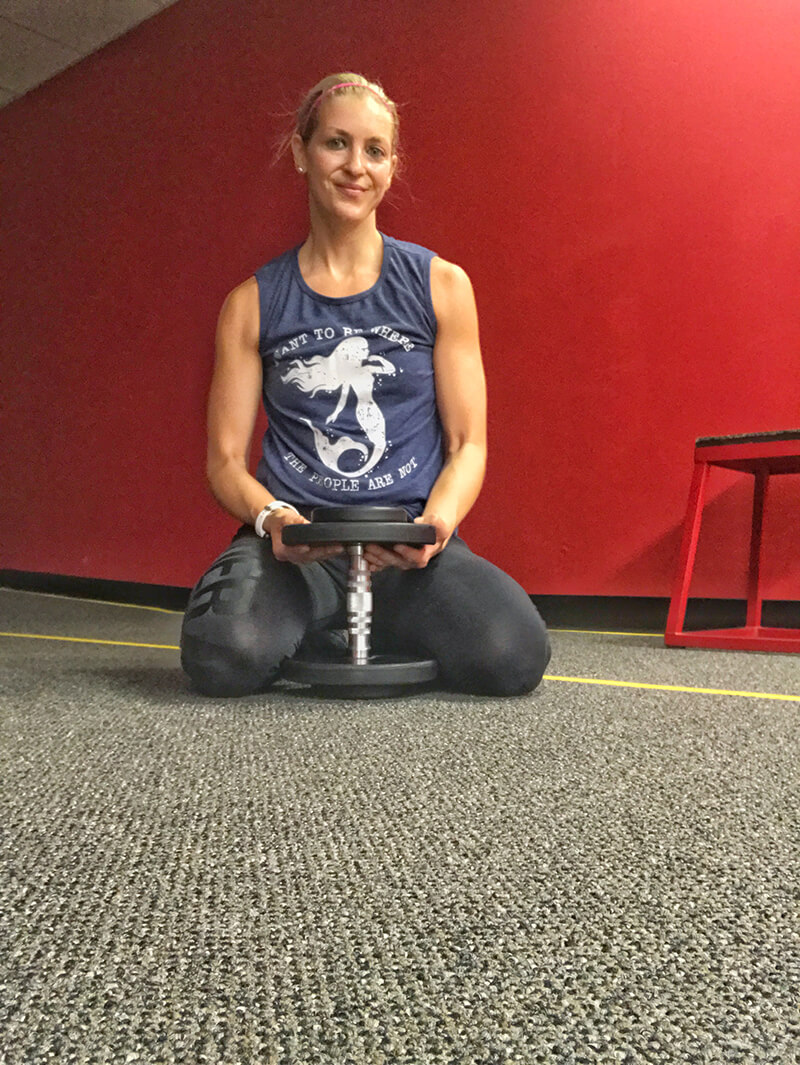 Change with the Change www.sarahkayhoffman.com gym weights fitness dumbbell