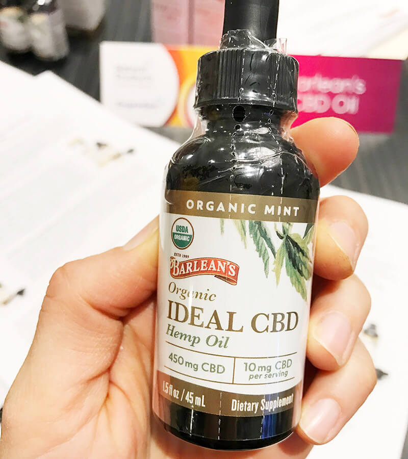 Top 29 2018 Expo West Finds www.sarahkayhoffman.com Barleans CBD Oil
