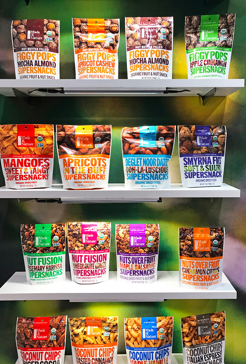 Top 29 2018 Expo West Finds www.sarahkayhoffman.com Made in Nature super snacks snack