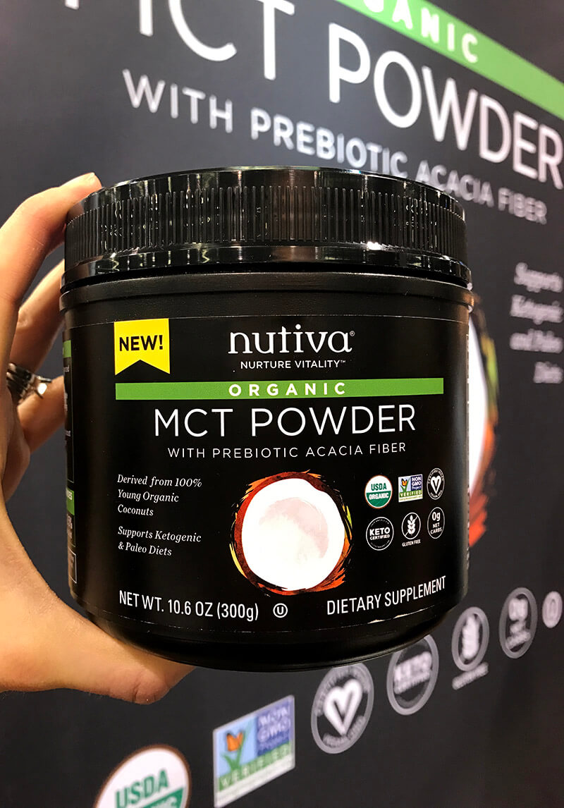 Top 29 2018 Expo West Finds www.sarahkayhoffman.com Nutiva Organic MCT Powder keto