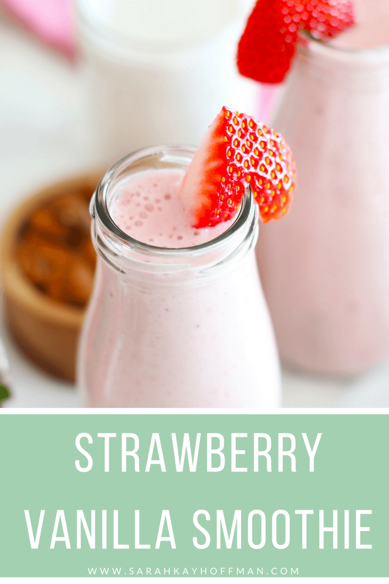 7-Day Smoothie Challenge www.sarahkayhoffman.com Strawberry Vanilla Smoothie dairy free